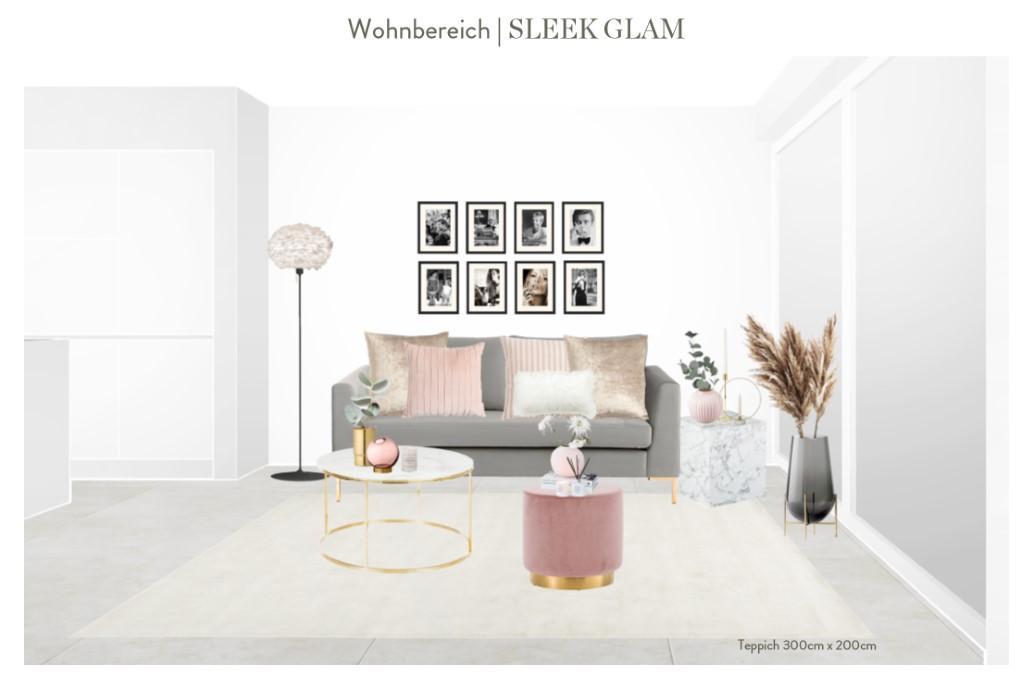 Reihenhaus einrichten Wohnzimmer Sofa Entwurf 3