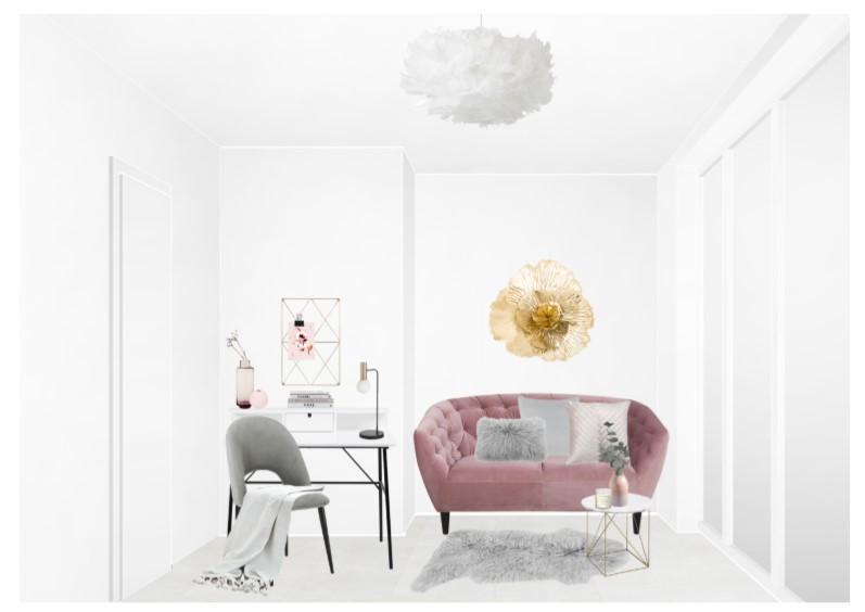 Reihenhaus einrichten Schlafzimmer Sitzecke Schreibtisch Entwurf 2