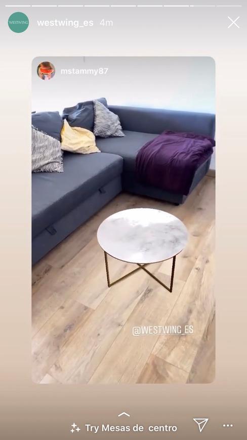 Mesita de salón en filtro de mesitas de noche de instagram