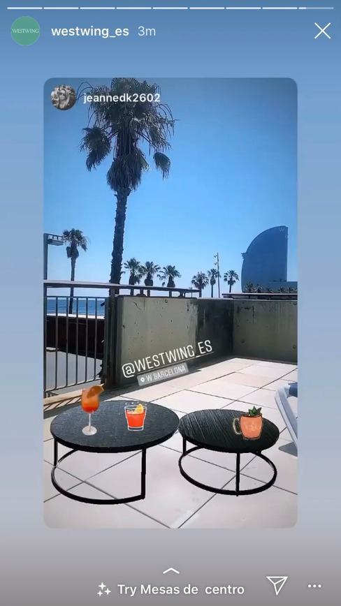 Filtro de instagram de mesilla de salón