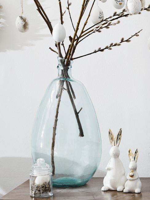 Vaso colorato azzurro