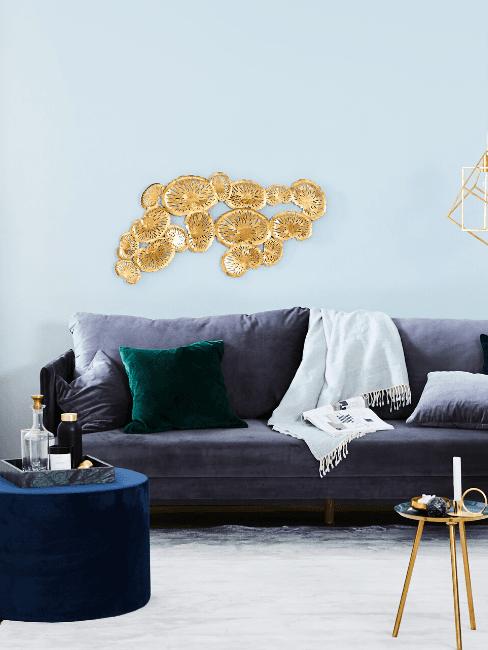 Decorazione in metallo oro da parete