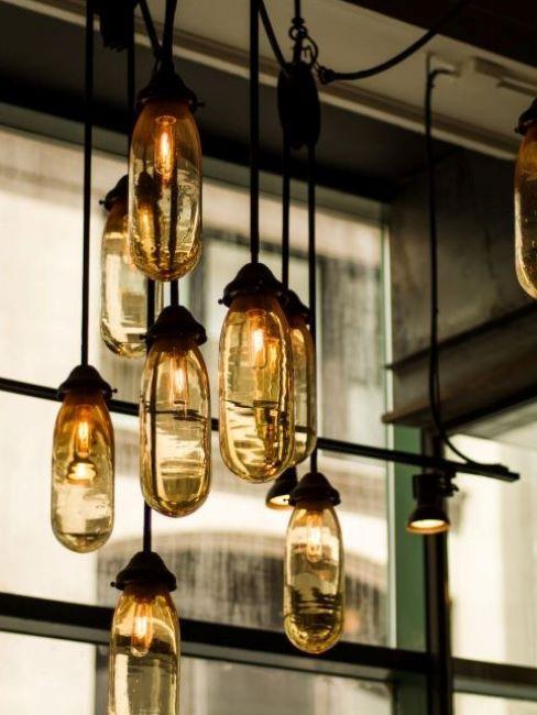 lampade da soffitto stile industriale
