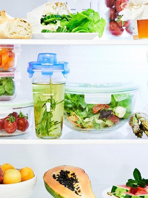 Indoor Garten: Salatschüssel im Kühlschrank