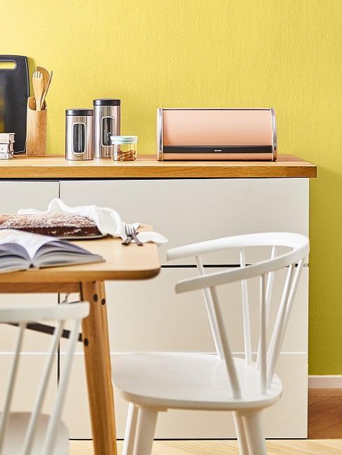 Wandfarben Ideen Küche Gelb
