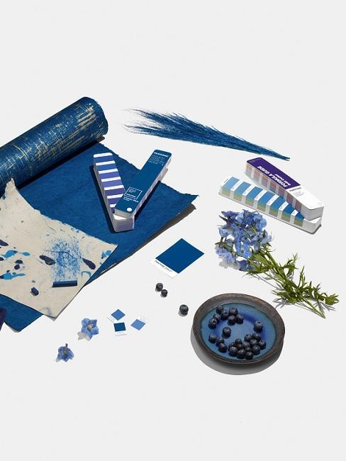 Classic Blue Pantone Trendfarbe Textur