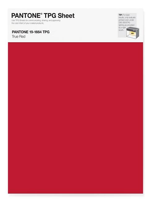 Pantone Trendfarben True Red