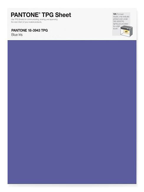Pantone Trendfarben Blue Iris