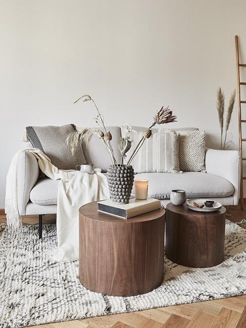 Boho Style Scandi Wohnzimmer