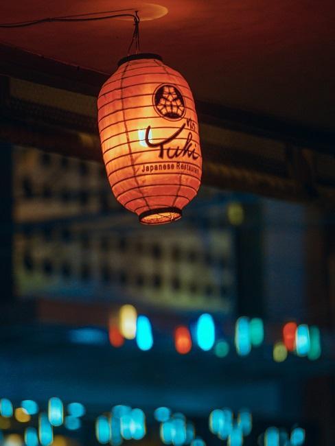 Asiatische Deko roter Lampion