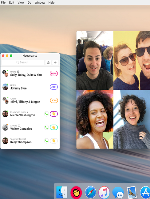 Houseparty App Chat Mac Chrome