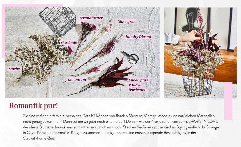 Grafik mit Anleitung für Trockenblumen Strauss