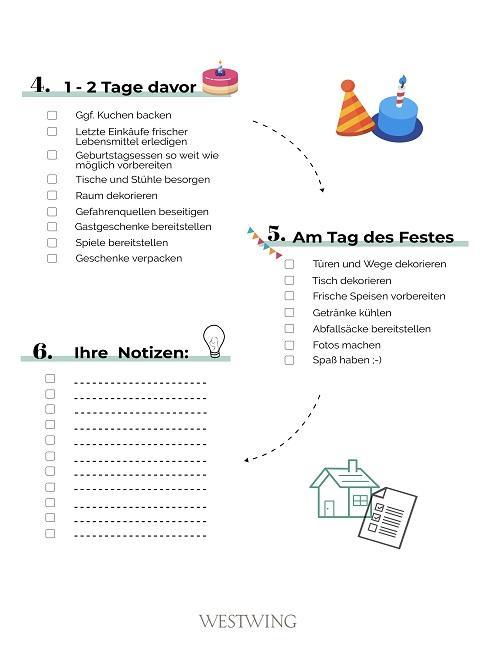 2. Teil der Checkliste für den Kindergeburtstag