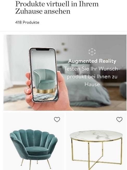 Augmented Reality Handy App Raum