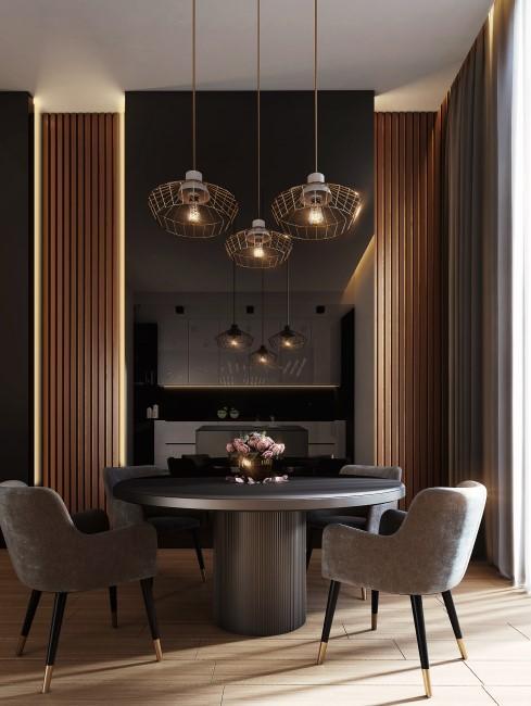 mesa redonda de comedor moderna