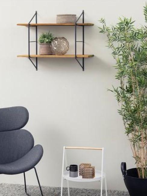 estanteria de pared en salon