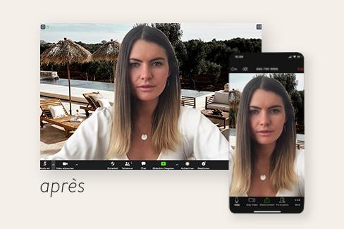 capture d'écran d'une réunion zoom avec fond d'écran personnalisé