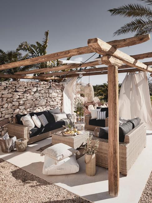 Terrace extérieure style boho chic