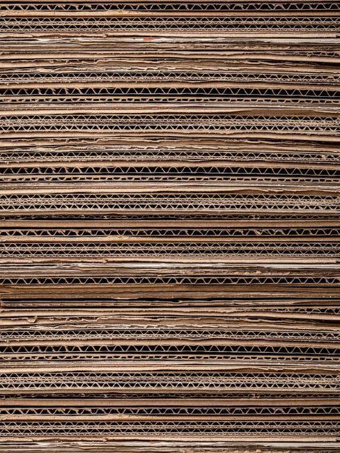 texture di fogli di cartone