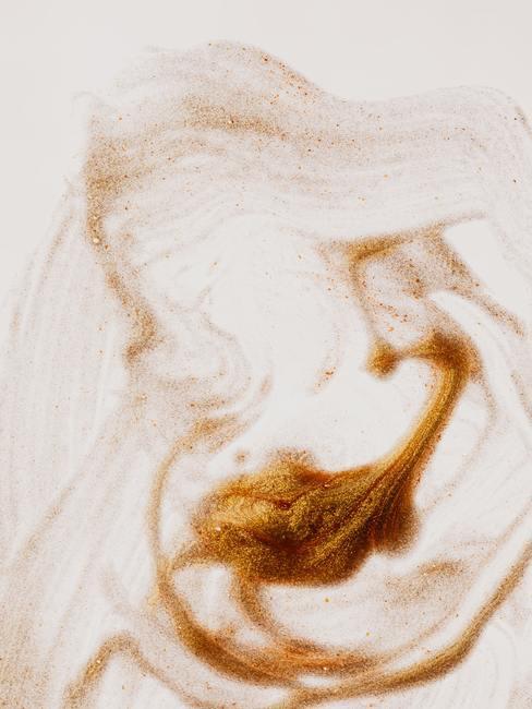 Wit-bronskleurige glitter muurverf