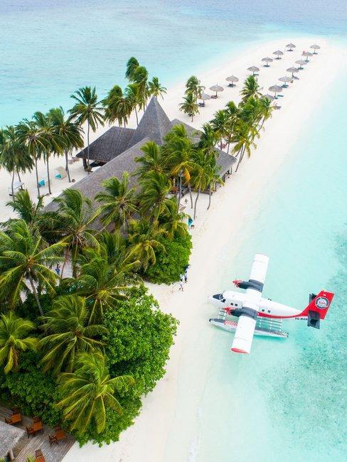 Maldives watervliegtuig bounty eiland
