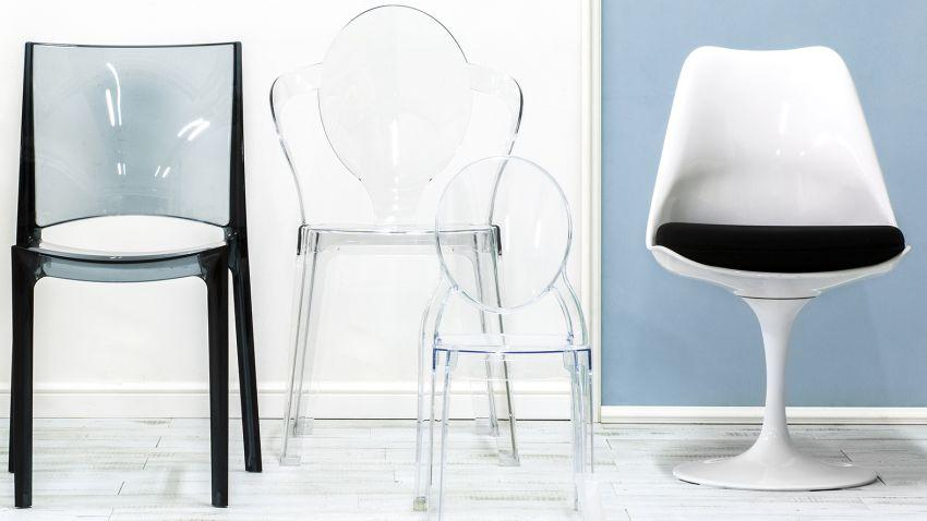 Průhledná židle