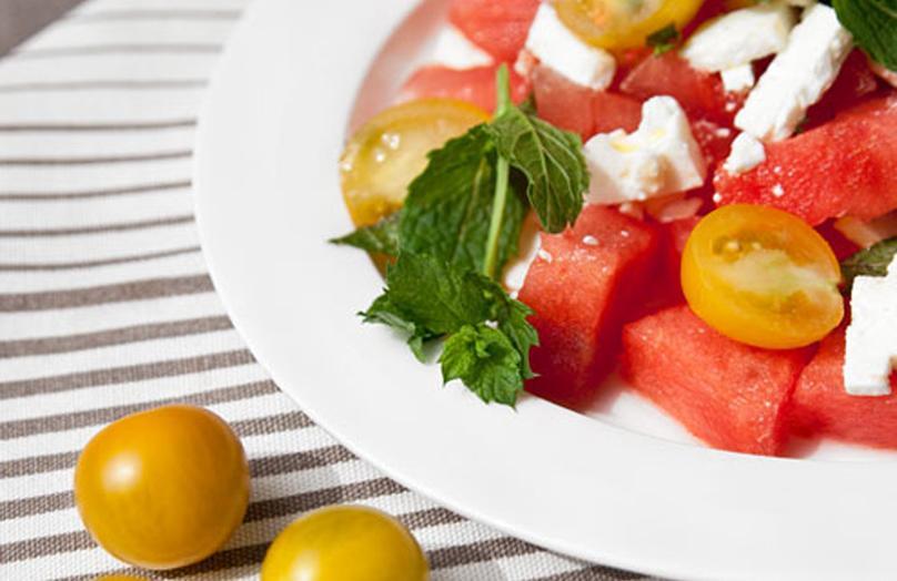 Rezept: Feta-Wassermelonen-Salat