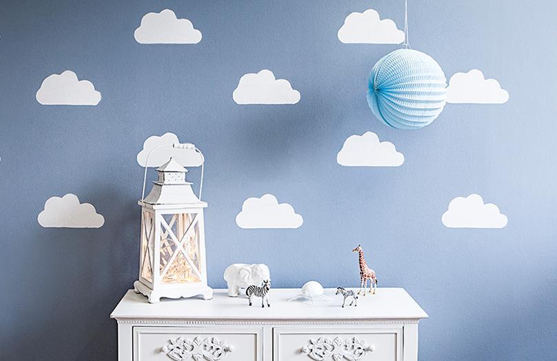 Himmlisches DIY: Wolkenwand