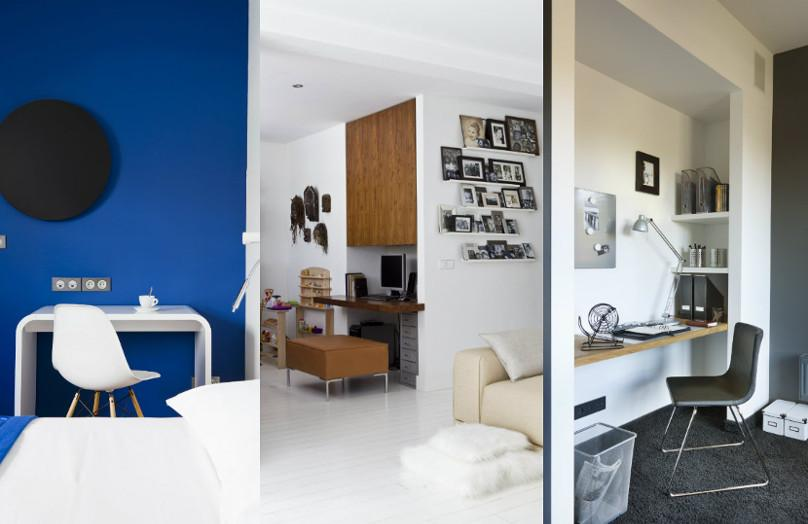 Una oficina en casa (casi invisible)