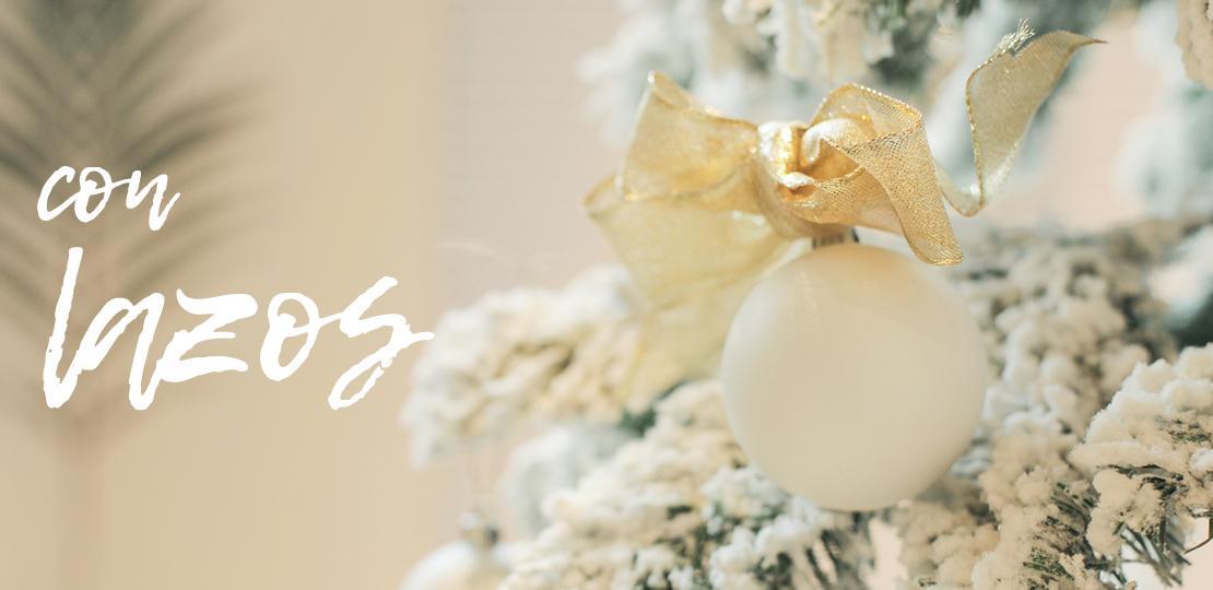 Ideas para decorar las bolas de Navidad doble lazo