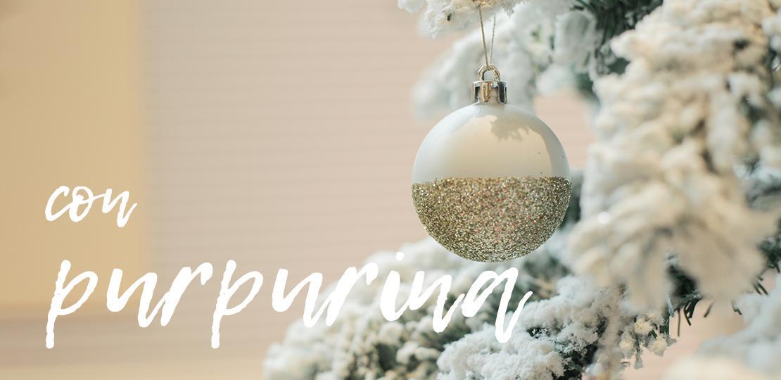 Ideas para decorar las bolas de Navidad purpurina