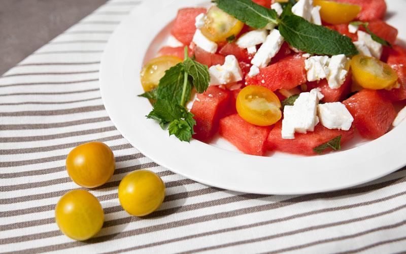 Recette d'été : salade de pastèque et feta