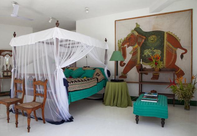 letto coloniale verde