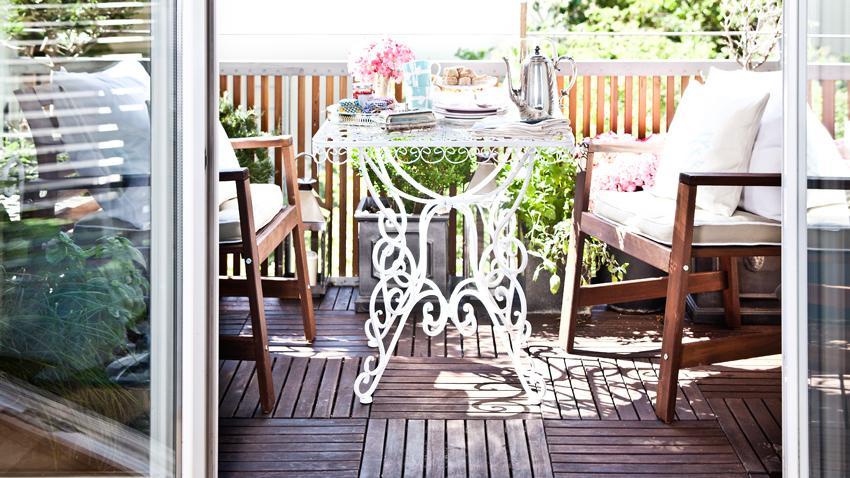 Holzfliesen Balkon