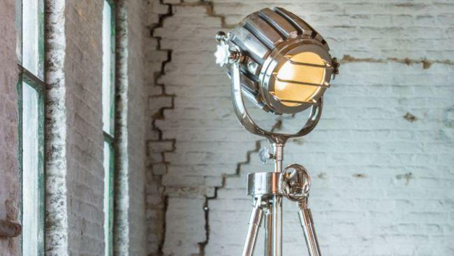 Lampadaire en métal de style factory