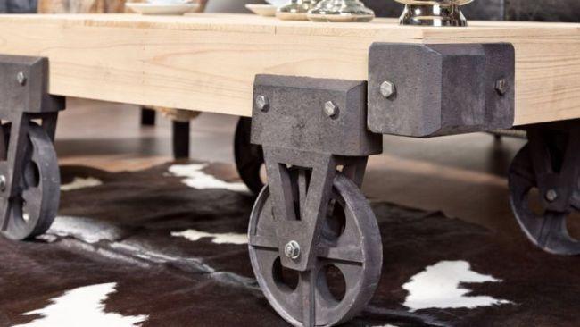 Table basse de style factory