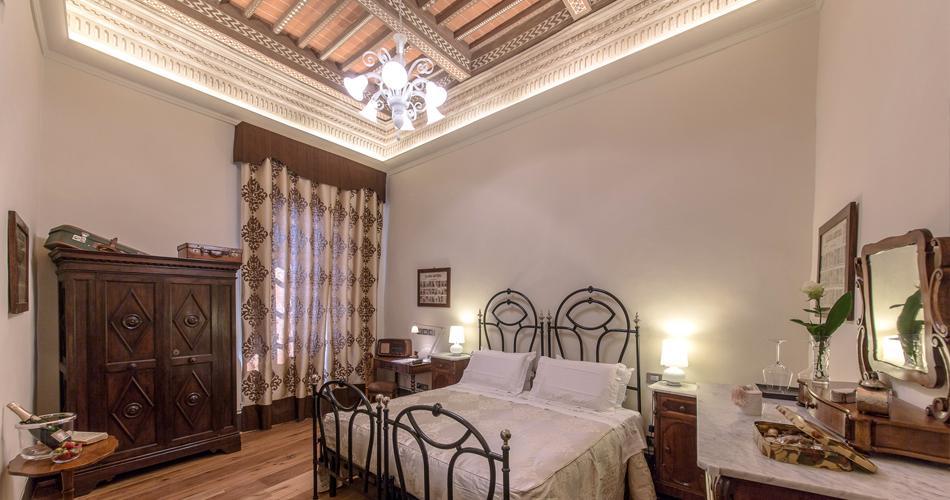 Camera da letto rustica