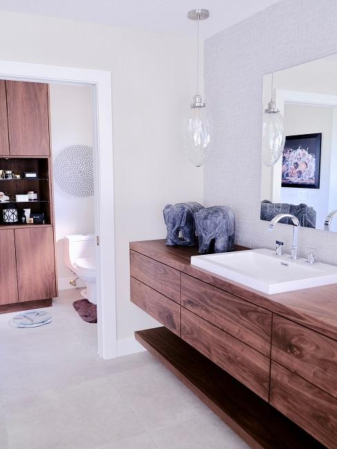 Designer Badezimmer aus Holz