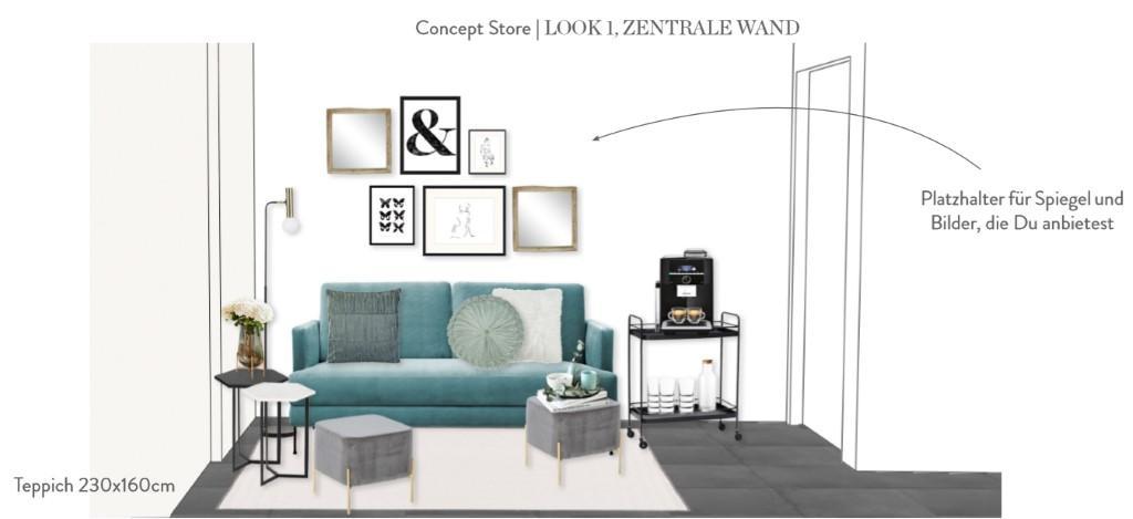 Laden einrichten Vorschlag 1 Sitzecke Sofa