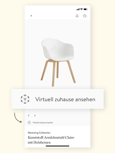 Augmented Reality Stuhl in App