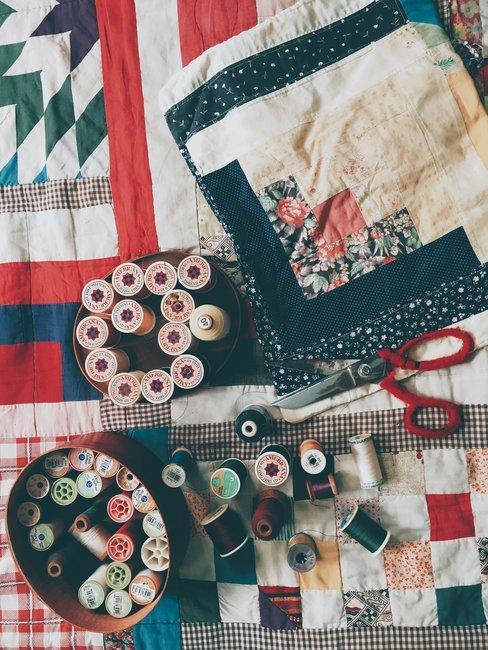 Narzuta tworzona metodą patchwork