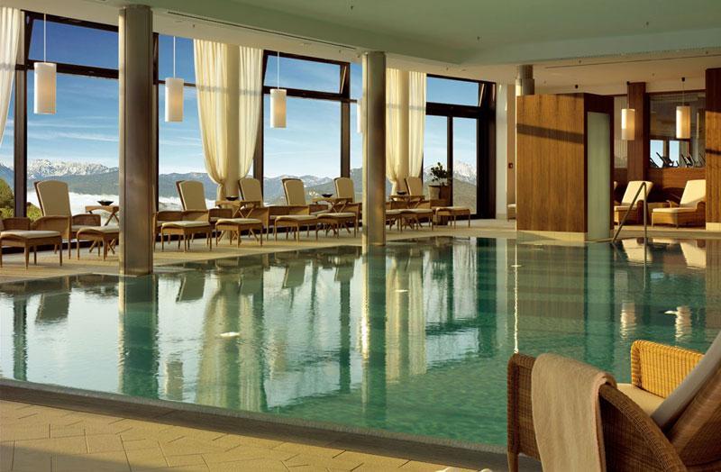 besten Spa Hotels in Deutschland Berchtesgaden Pool