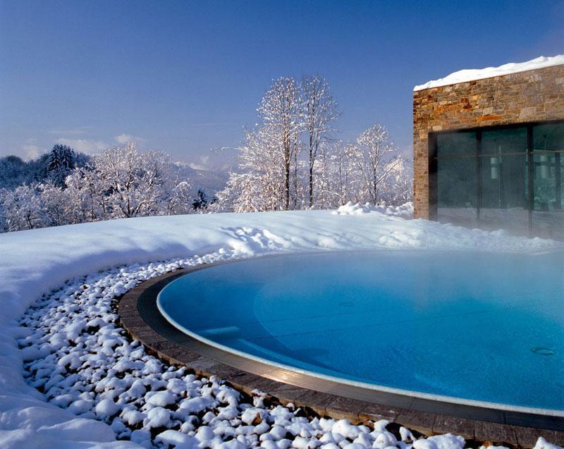 besten Spa Hotels in Deutschland Berchtesgaden Außenpool