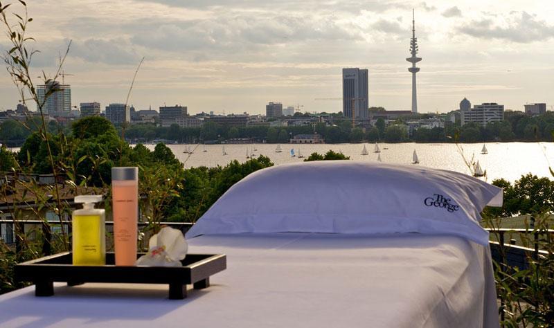 besten Spa Hotels in Deutschland The George Hotel Terrasse