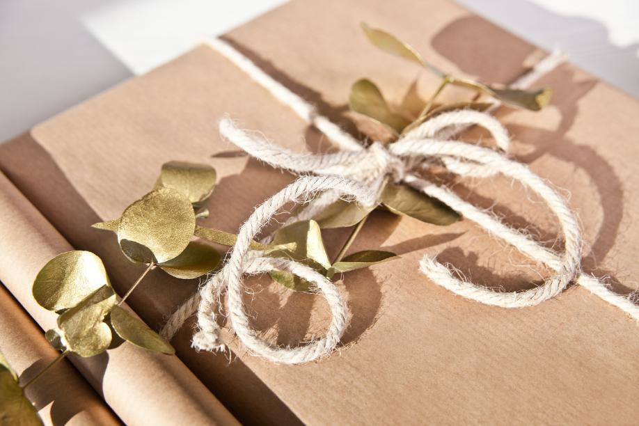 Verpacken ohne Geschenkpapier Packpapier Geschenk