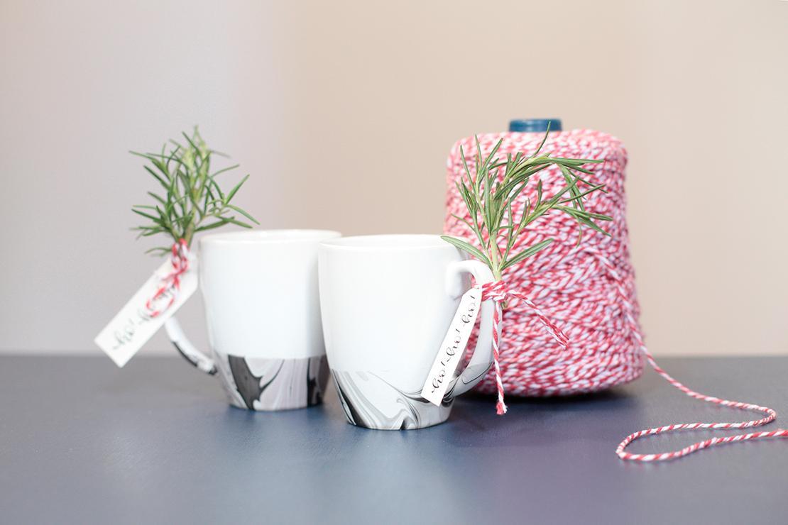Taza de mármol DIY final
