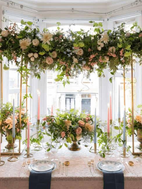 Décoration florale table de mariage