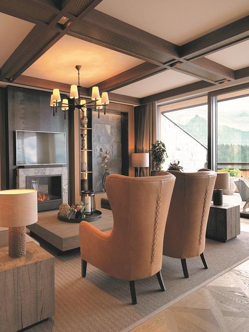Interalpen Hotel Tyrol Panorama Suite Grand Wohnzimmer