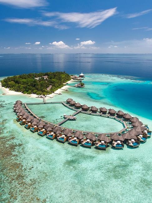 Baros Maldiven Außenansicht von oben