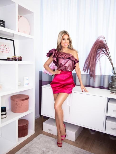 Sylvie Meis Header in glamroom roze